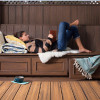 Hochwertige Dauerdielen aus recyceltem Holz und Kunststoff