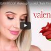 Make-Up von Lauren Curtis für Valentinstag