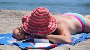 Sonnen und Sonnenschutzmittel